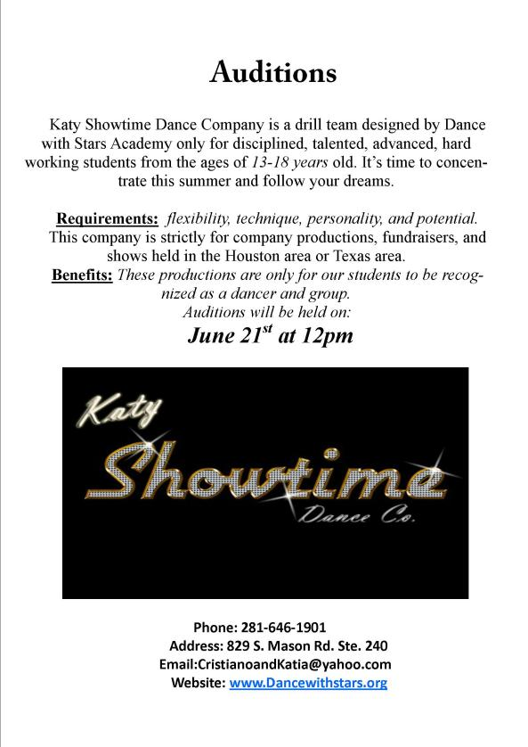 Auditions Katy Showtime