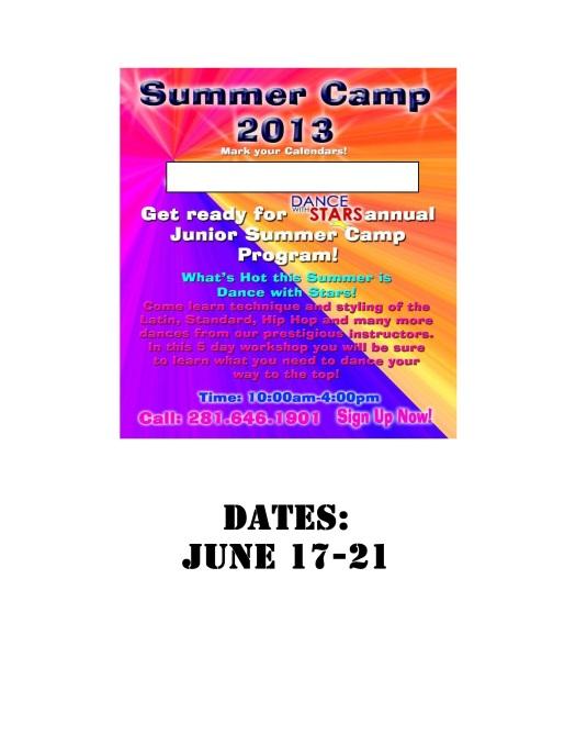 Summer Camp Which week